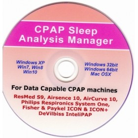CPAP Sleep Analysis Software CD for Resmed, Respirioncs, Fisher & PaykeI